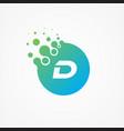 pixel symbol letter d design minimalist vector image vector image