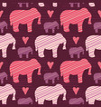 purple and pink kids baby elephants silhouette vector image