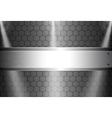 realistic dark carbon fiber vector image vector image