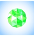 Realistic emerald jewel shaped Gem vector image vector image
