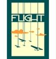retro airplanes flight on striped backdrop vector image vector image