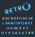 Retro light font template set of letters and