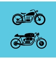 retro motorcycle icons vector image