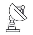 satellite dish line icon sign vector image