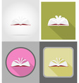 school education flat icons 11 vector image vector image