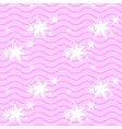 seamless pink pattern with lines and flowers vector image