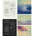 Set of icons on a theme of the sea vector image vector image