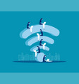 sitting on wifi business people and online vector image