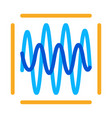 sound diagnostics icon outline vector image vector image