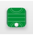 Square icon of hockey field on grass vector image vector image