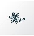 star anise icon line symbol premium quality vector image