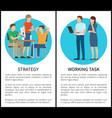 strategy and working task vector image vector image