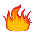 symbol fire on white background vector image