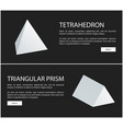 tetrahedron and triangular prism geometric figures vector image