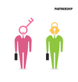 Two businessman with key symbol vector image vector image