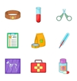 Veterinary equipment icons set cartoon style vector image vector image