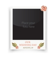 Vintage wedding frame Template for photo of the vector image vector image