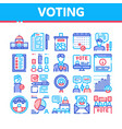 voting and election collection icons set vector image