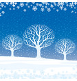 winter landscape trees vector image vector image