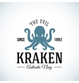 The Evil Kraken Authentic Navy Abstract vector image