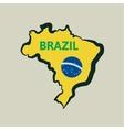 Flat simple Brazil map vector image