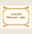 golden frame luxury victorian style floral border vector image