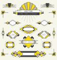 Art Deco Style Line and Geometric Labels and Badge