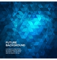 Abstract blue background with triangles Abstract vector image vector image
