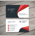 abstract creative business cards vector image vector image
