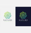 abstract nature logo based from creative vector image vector image
