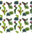 abstract seamless pattern with cactus vector image vector image