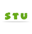 alfavit from the leaves of the clover letters stu vector image vector image