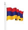 armenia flag vector image vector image