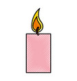 aroma therapy candle spa icon vector image vector image