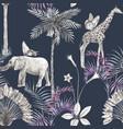beautiful african safari animal tropical vector image vector image