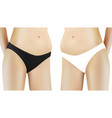 black and white woman panties on body vector image