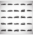 cars collection set on white background for vector image