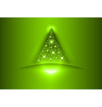 christmas tree star green vector image