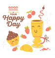 colorful red and yellow breakfast theme s vector image
