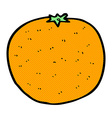 comic cartoon orange vector image