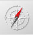 compass arrow object isolated 3d navigation and vector image vector image