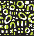 contemporary geometric shapes seamless vector image vector image