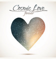 cosmic love concept heart with night sky and vector image