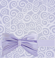 curlicues ribbon bow vector image vector image