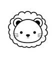 cute lion animal isolated icon vector image