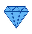 diamond line icon vector image