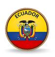 Ecuador Seal vector image