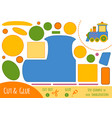 education paper game for children train vector image vector image
