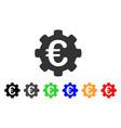 euro options icon vector image vector image