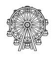 ferris wheel sketch vector image vector image